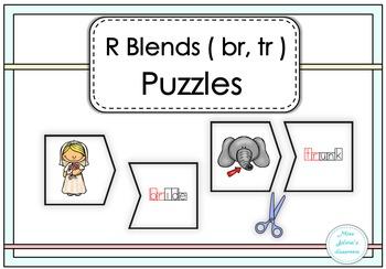 R Blends ( br, tr, ) Puzzles