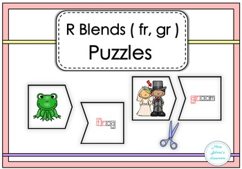 R Blends ( fr, gr ) Puzzles