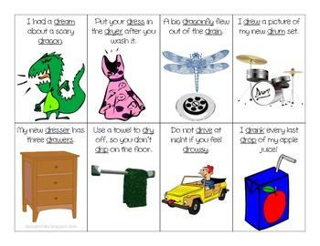 R Blends in Sentences Flash Cards