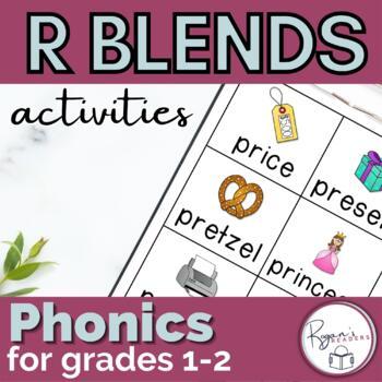 R Blends word work activities