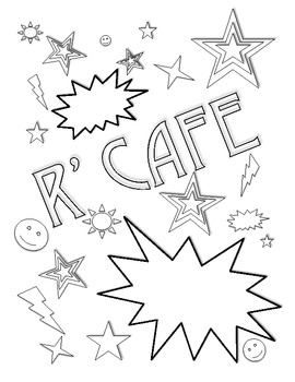 R' CAFE Student Notebook or Binder Cover- Black & White