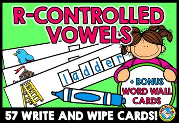 R-CONTROLLED VOWELS CENTER: WRITE AND WIPE CARDS: PHONICS