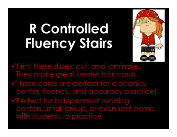 R Controlled Fluency Stairs