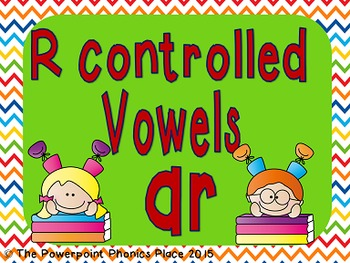 R Controlled Vowel: AR Powerpoint and Printables