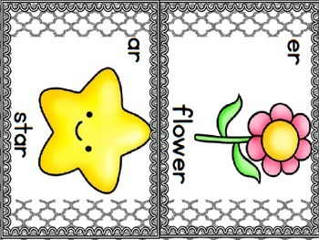 R-Controlled Vowel Cards (Gray Glitter)