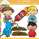 R Controlled Vowel Clip Art: IR Words