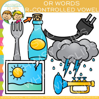 R-Controlled Vowel Clip Art - OR Words