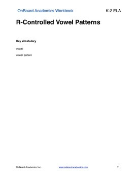 R-Controlled Vowel Patterns