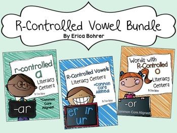 R-Controlled Vowel Phonics Based Literacy Center Bundle