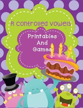 R Controlled Vowel Practice - printables,games,mini books