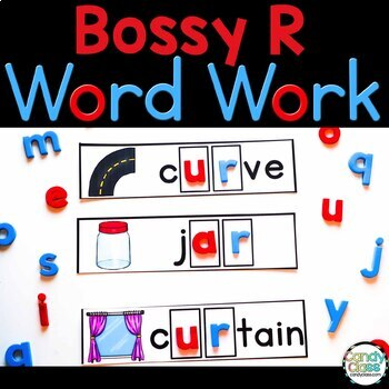 Bossy R Word Work Cards {Phonics Activities for R Controll