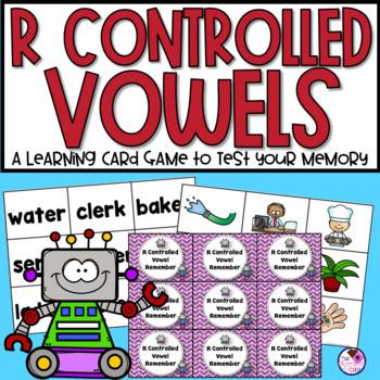 R-Controlled Vowels AR, ER, IR, OR, UR Memory Game