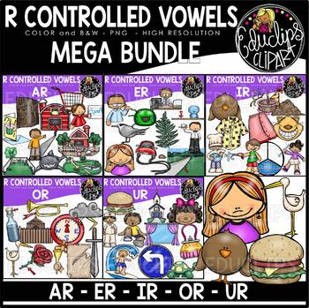 R Controlled Vowels Clip Art Mega Bundle {Educlips Clipart}