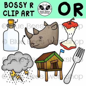 R-Controlled Vowels Clip Art - OR