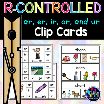 R-Controlled Vowels Clip Cards - Bossy R Words