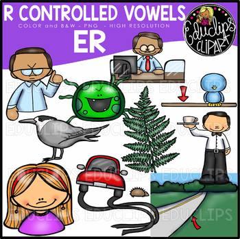 R Controlled Vowels - ER Clip Art Bundle