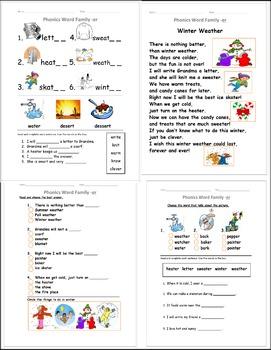 R Controlled Vowels ER poem short story Phonics activity w