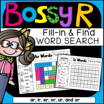 R-Controlled Vowels Word Search: Fill-in-and-Find Phonics