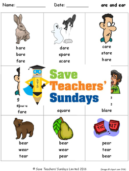 R Controlled Vowels Lesson plans, Worksheets and Other Res
