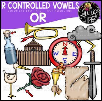 R Controlled Vowels - OR Clip Art Bundle