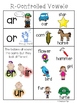 R-Controlled Vowels:  Posters (COLOR & BW)