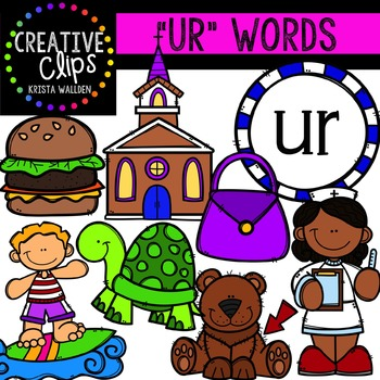 R-Controlled Vowels: UR {Creative Clips Digital Clipart}