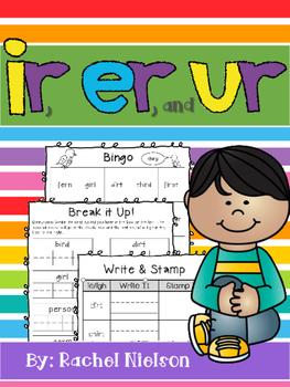 R-Controlled Vowels (ir, er, and ur) Worksheets