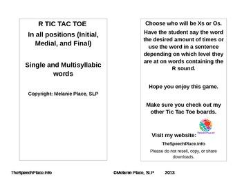 R Tic Tac Toe