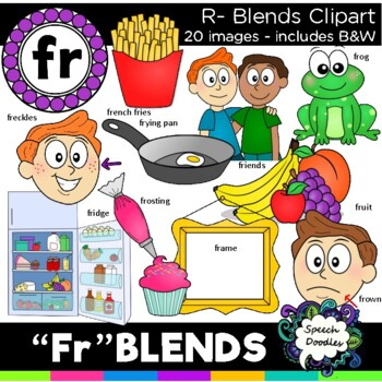 R blends clipart - Fr blends - 20 images! Personal and com