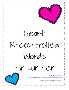 R-control words -ir -er -ur with hearts