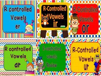 R controlled Vowels Power Point & Printables Bundle