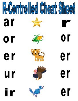 R-controlled vowel game