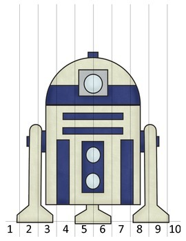 R2D2 Star Wars Cut and Paste