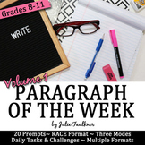 Weekly Short Writing Prompts w/ Stimuli, Paragraph of the