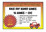 RACE DAY PHONICS GAMES Phase 1 (CVC, CCVC) Dyslexia Friendly Font