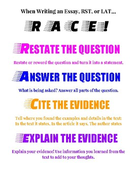 RACE Essay Diagram