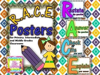 RACE Problem Solving Posters