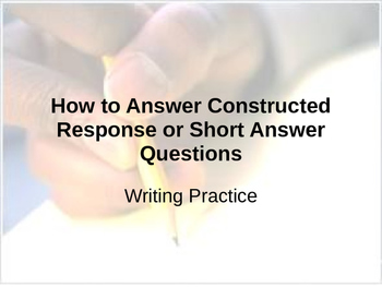 RACE writing ~ How to  Construct a Response to Short Answe