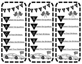 RACER Writing Strategy Reminder Bookmarks