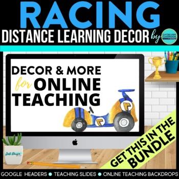RACING THEME Classroom Decor - 2 EDITABLE Clutter-Free Cla