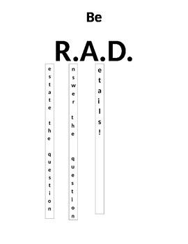 RAD Sign - Restate, Answer, Details