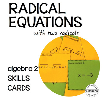 RADICAL EQUATIONS - algebra 2