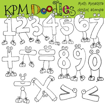 RAFAS Math Monsters Stamps