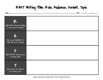 RAFT Writing Plan {Landscape Format}