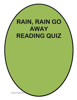 RAIN, RAIN GO AWAY BY ISAAC ASIMOV - READING Comprehension Quiz