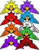 RAINBOW BIRDS- BIRD TOPPERS AND FRAMES