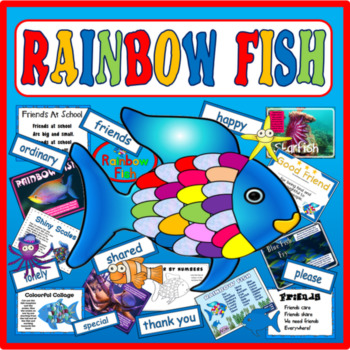 RAINBOW FISH STORY RESOURCES EYFS KS1-2 ENGLISH FRIENDSHIP