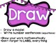 RDW strategy from engageNY Read Draw Write for Problem Solving