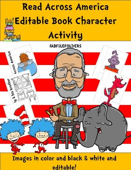 READ ACROSS AMERICA EDITABLE BOOK CHARACTER ACTIVITY Engli