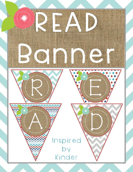 READ Banner Freebie-Aqua, Gray and Red